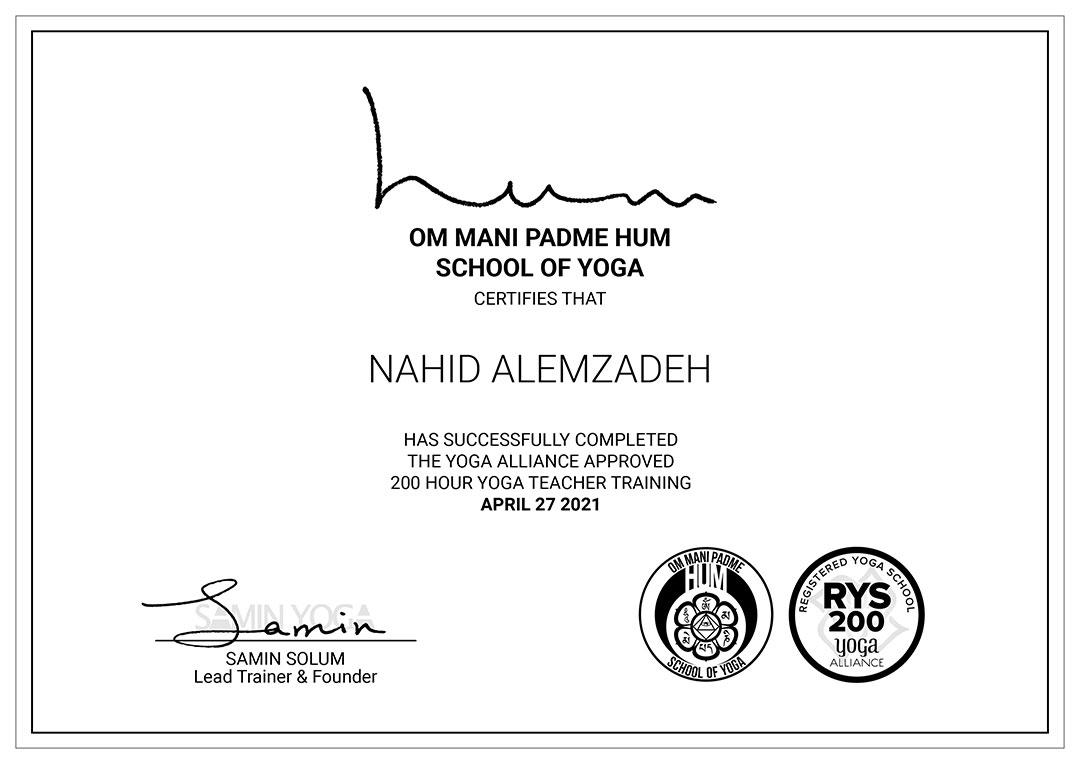 NAHID-ALEMZADEH-Yoga-Certificate